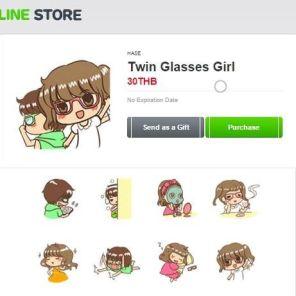 Sticker line-TwinGirlGlasses-HASE