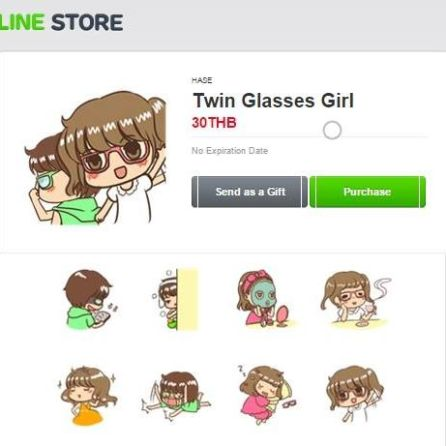 Sticker line-TwinGirlGlasses-HASE